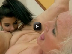 OldYoungLesbianLove Sexy girl with long hair and sexy body with lod granny