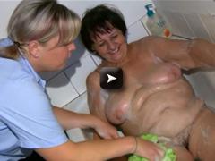 OldNanny Chubby granny and fat milf masturbating with dildo
