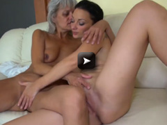 big long dildo on the couch with her good young girl friend