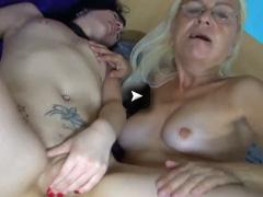 OldNanny Nice lesbian scene by old nanny