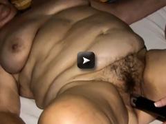 granny and fat milf masturbating with dildo