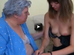 BBW Granny playing with to young Girl
