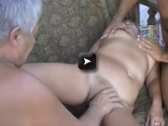 OmaPass Hot fat granny fucking outdoors