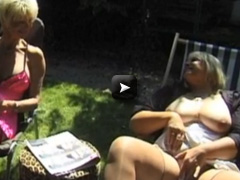 Threesome with Mature Busty Women